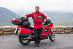 Herb with Honda ST1100 at Bacon Hollow Overlook