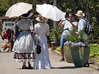 Women in Period Costumes at Biltmore Estate