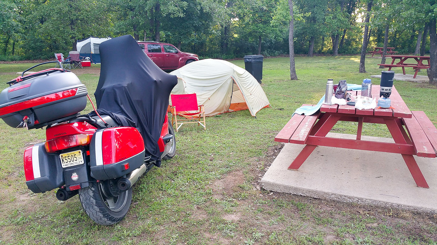Motorcycle Camping in Oklahoma