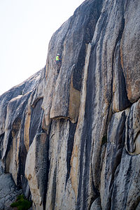Tommy climbing at Murphy's Creek