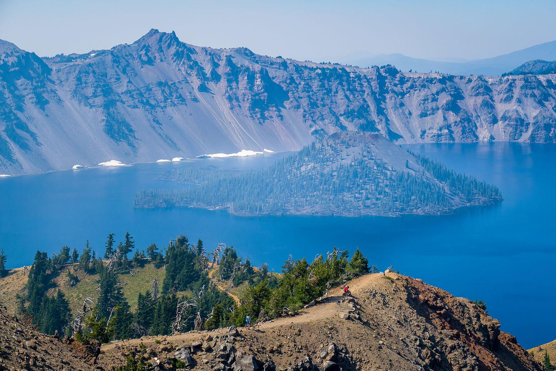 Wizard Island from Garfield Peak