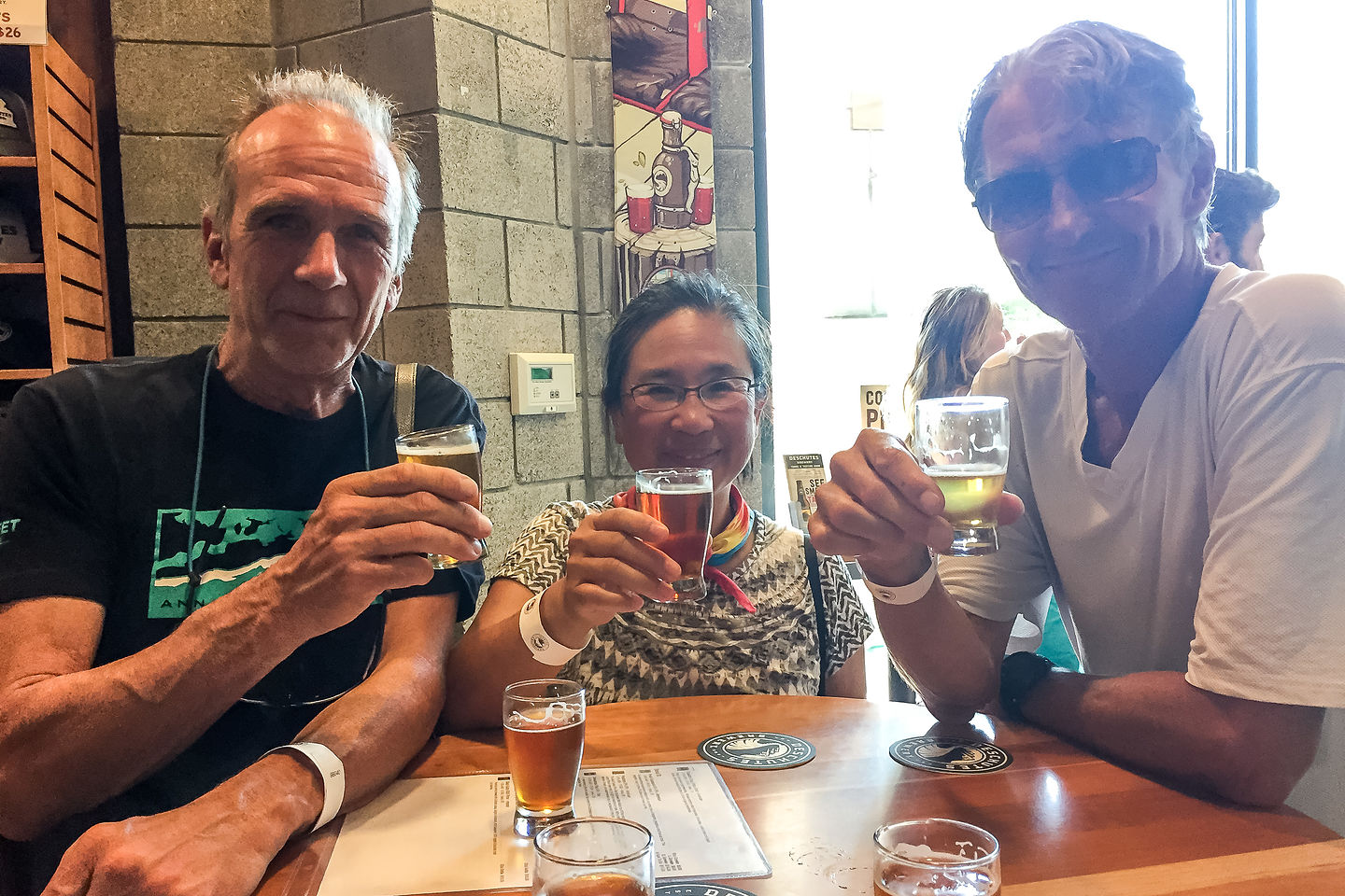 Free Beers at the Deschutes Brewery