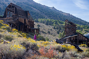 Abandoned mine along the road to Bodie