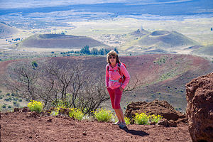 Lolo atop Sunset Hill on Mauna Kea