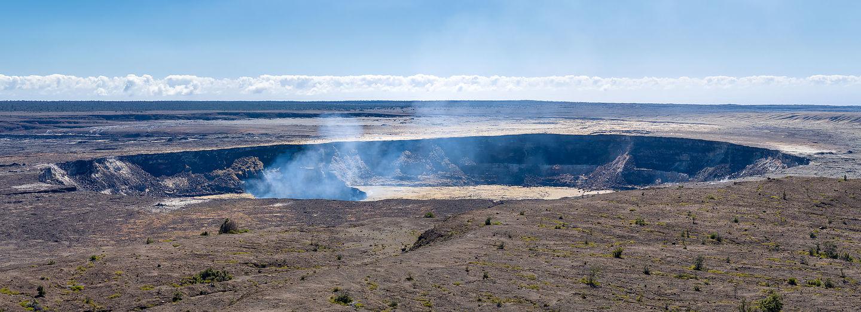 Steam rising from Halema'uma'u Crater