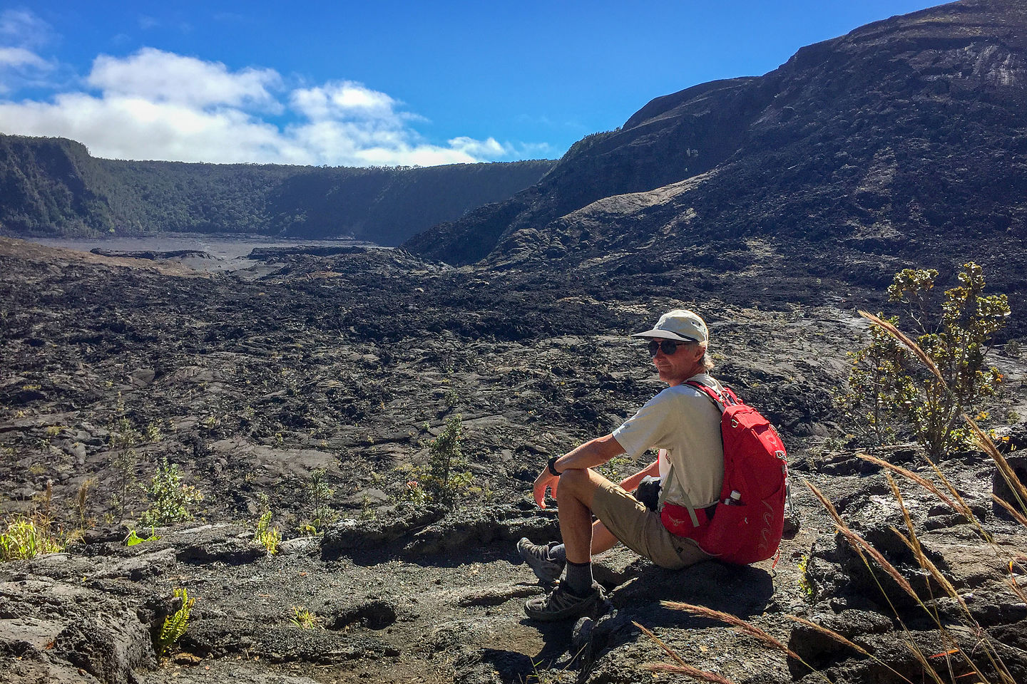 Herb getting ready to descend into Kilauea Iki Crater
