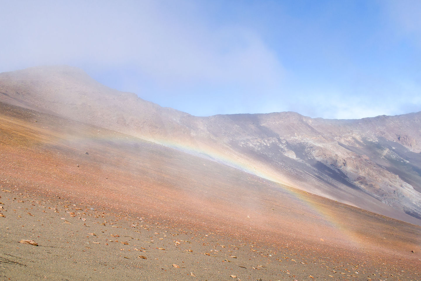 Rainbow in Haleakala Crater