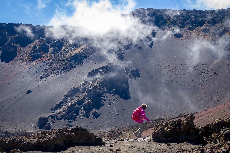 Clouds in Haleakala Crater