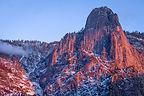 Alpenglow on Sentinel Rock