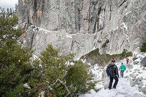 Hiking down from Yosemite Falls