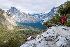 Lolo contemplating the awesomeness of Yosemite