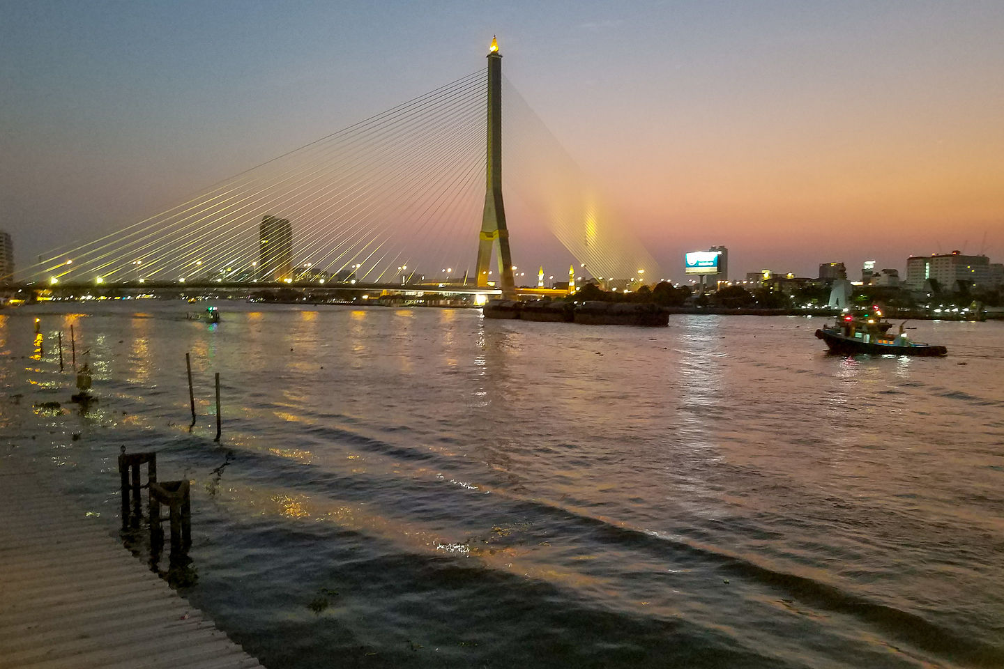 View of Chao Phraya River from In Love outdoor patio