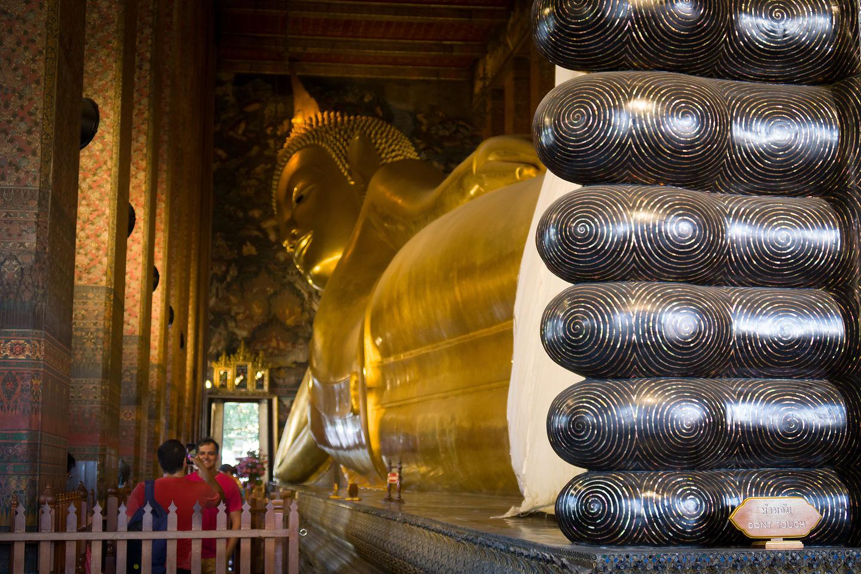 Reclining Buddha's tootsies