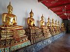 Hall of golden Buddhas in Wat Pho