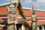 Yakshas guarding the temple gates at Wat Phra Kaew