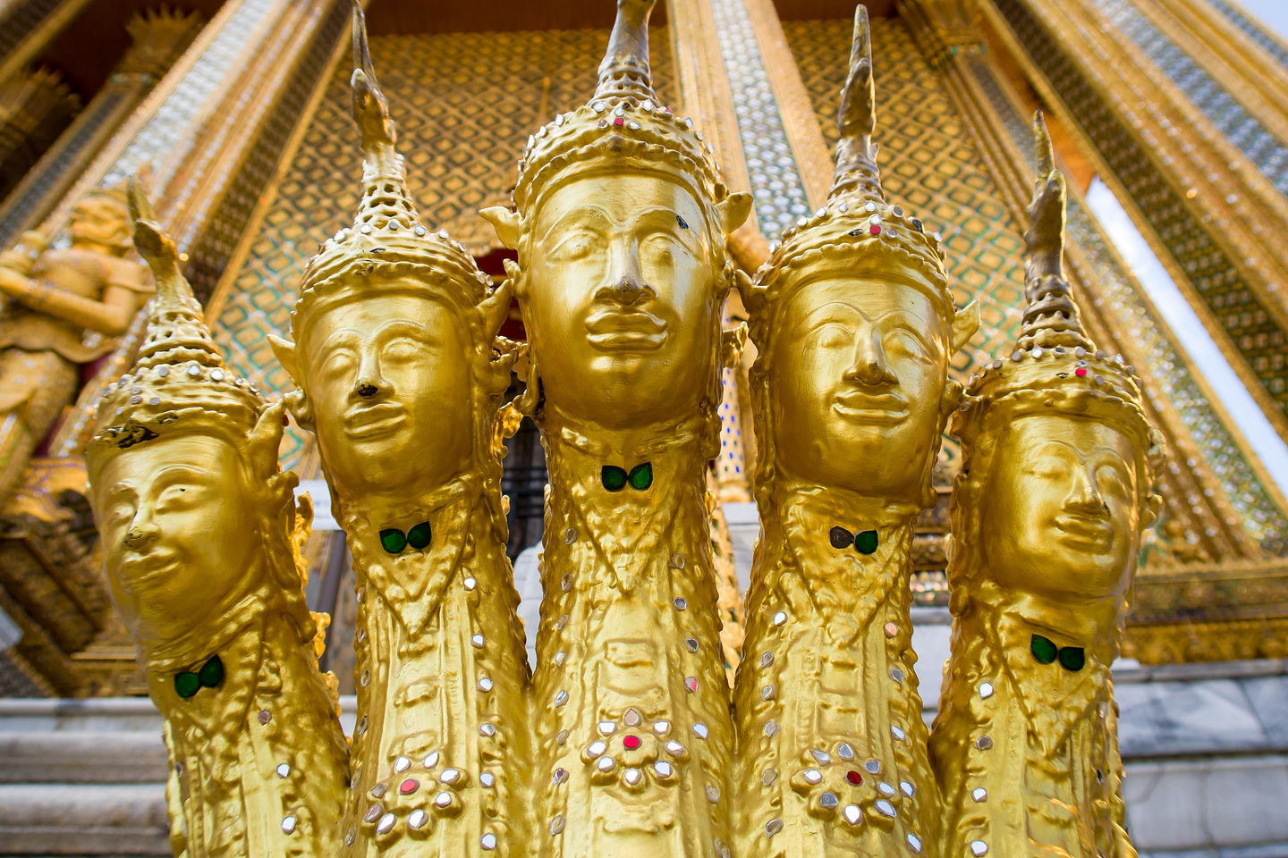 5-headed nagas of Wat Phra Kaew