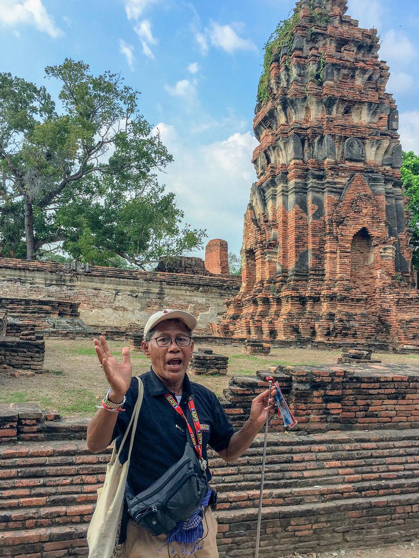 Udom telling us Ayutthaya's past