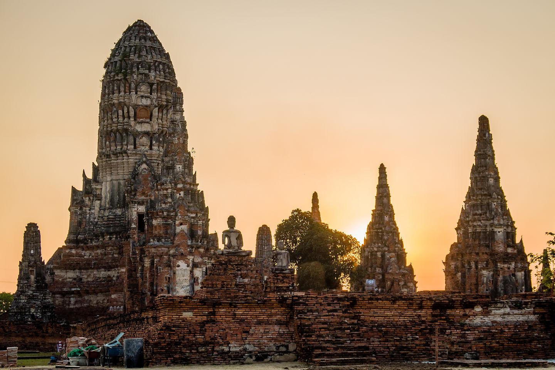 Sunset at Chai Watthanaram Temple