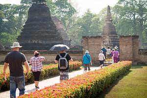 Gate1 approaches Sukhothai Historical Park