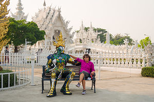 Lolo making friends at the White Temple