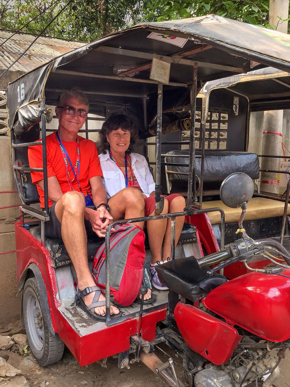Myanmar tuk tuk ride