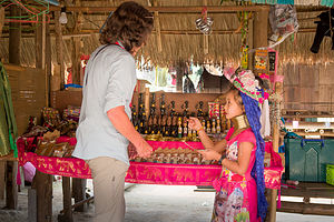 Lolo trying to haggle this little girl out of a few bahts