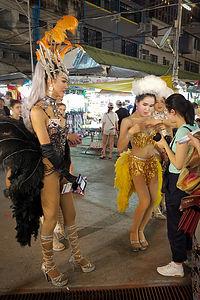 Ladyboys in the Chiang Mai night bazaar
