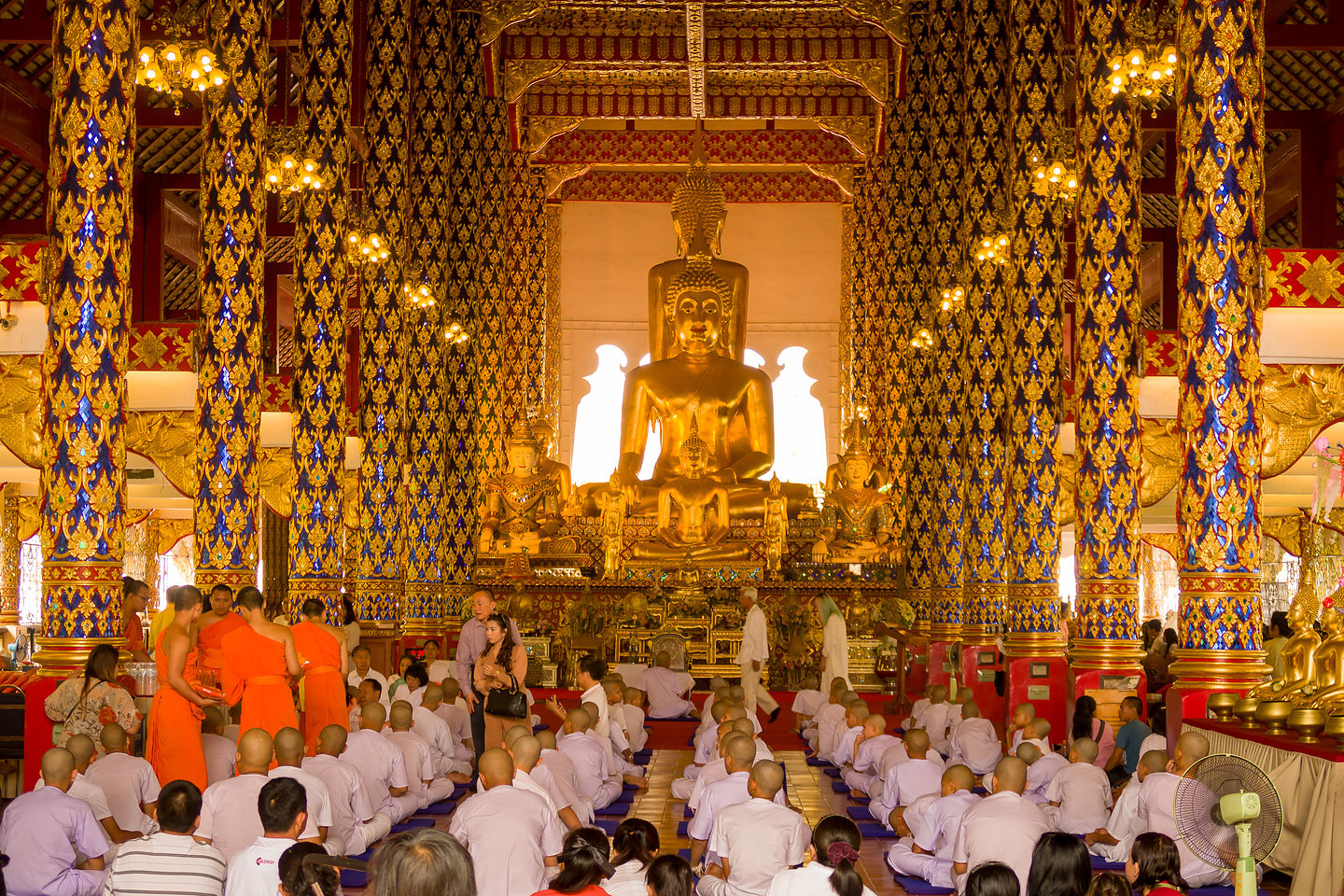 Ordination of young monks at Wat Suan Dok
