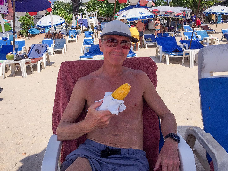 Herb enjoying Patong Beach