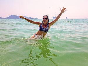 Lolo really enjoying Patong Beach
