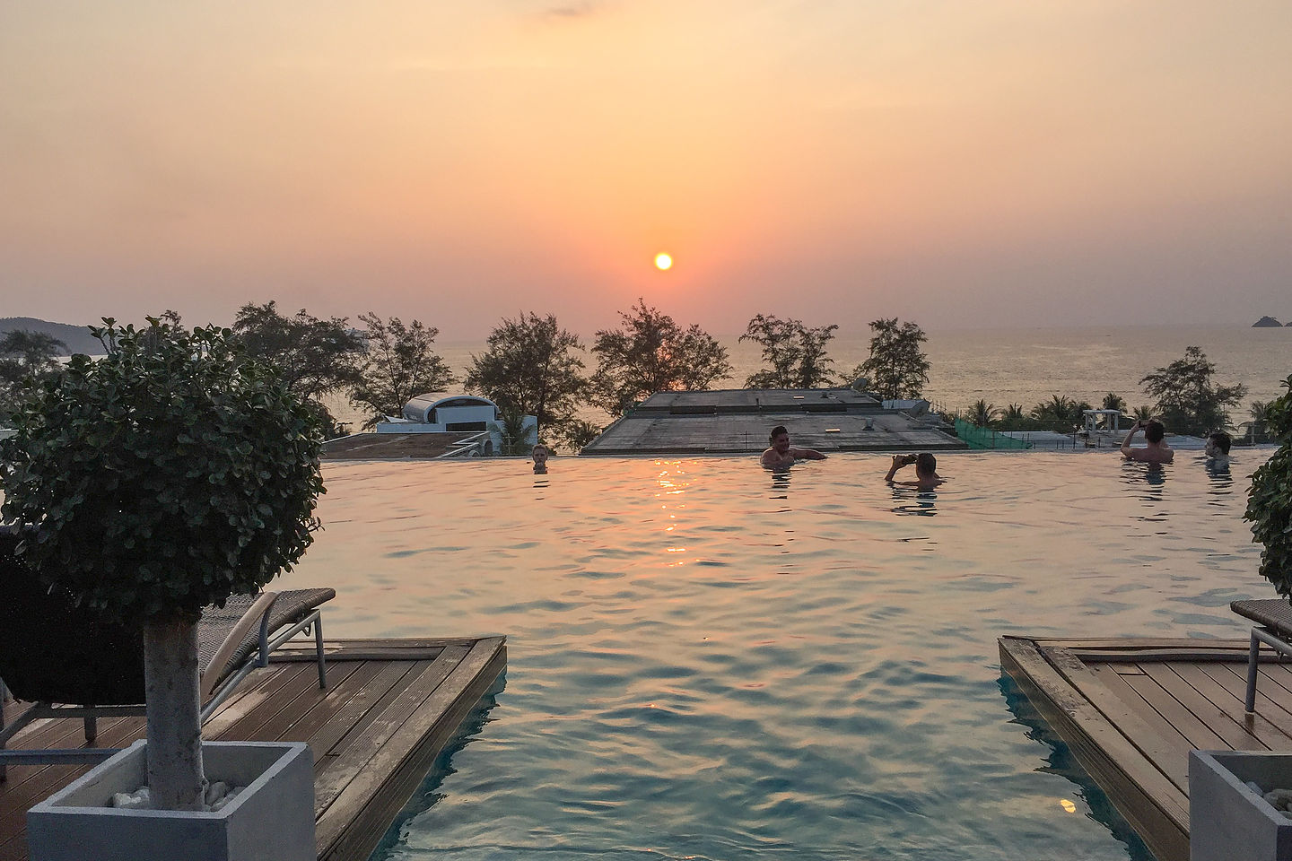 Infinity pool at the Charm Resort in Phuket