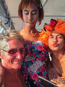 Herb meets ladyboys aboard James Bond boat