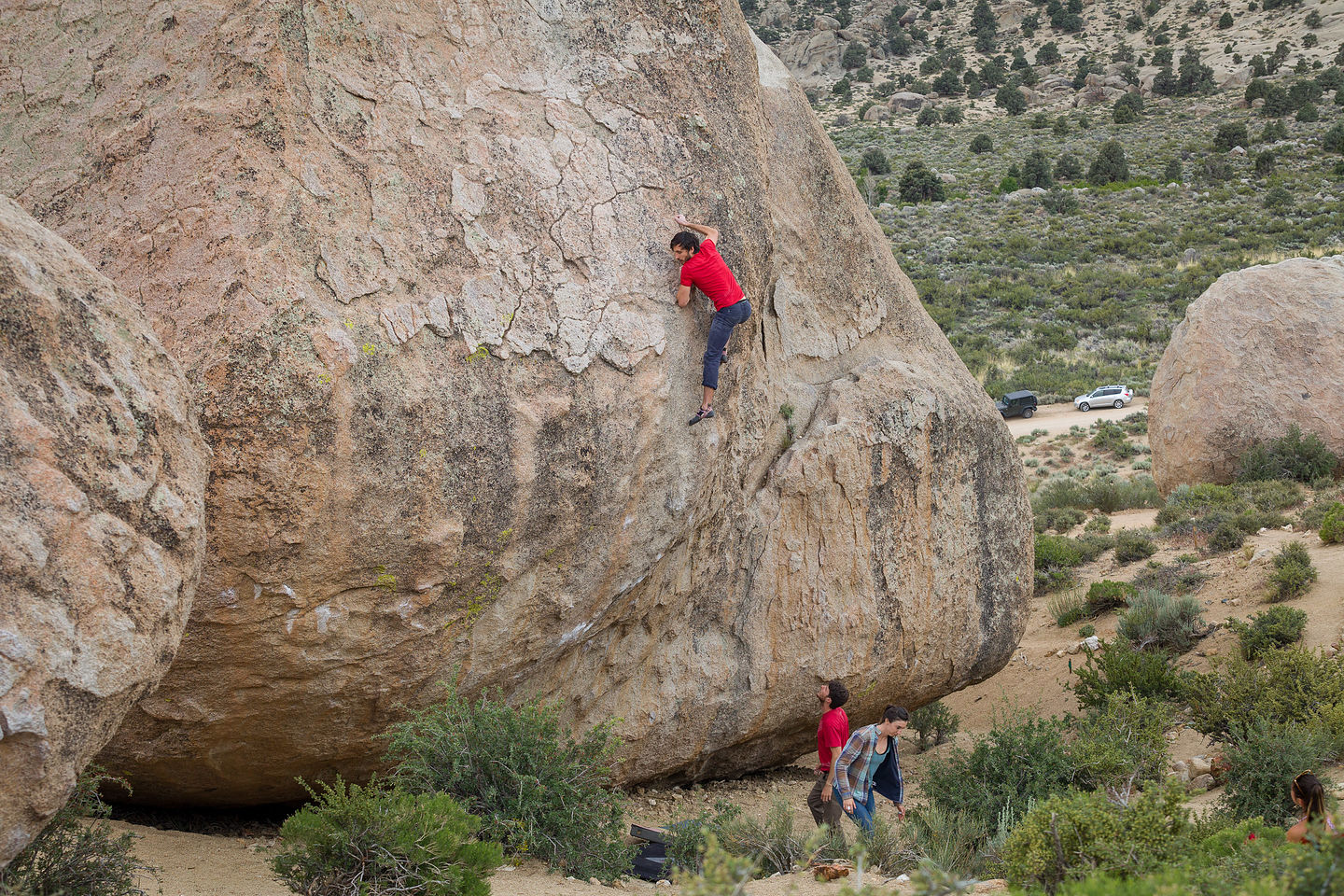 Andrew workng on High Plains Drifter in the Buttermilks