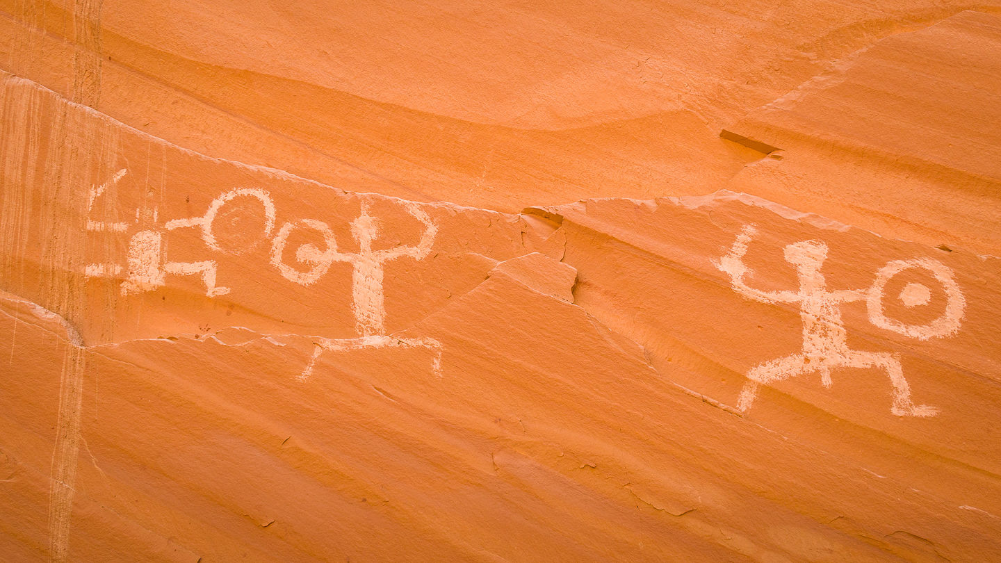 Pictographs at Defiance House Ruins