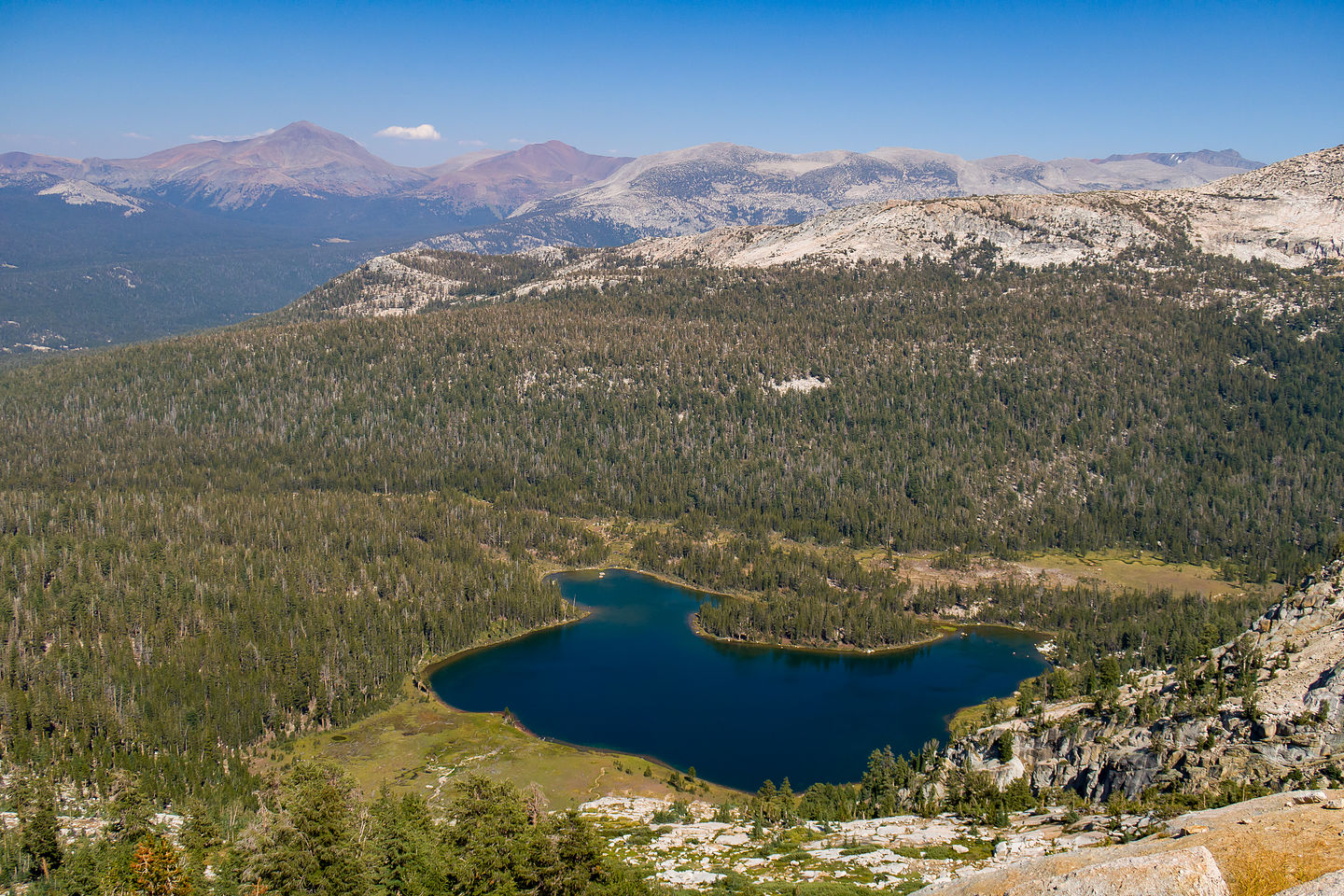 View of Elizabeth Lake from Unicorn Peak
