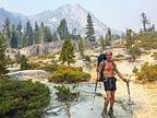 Herb hiking up to Upper Canyon Creek Lake
