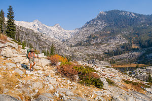 Finding our way between Upper and Lower Canyon Creek Lakes