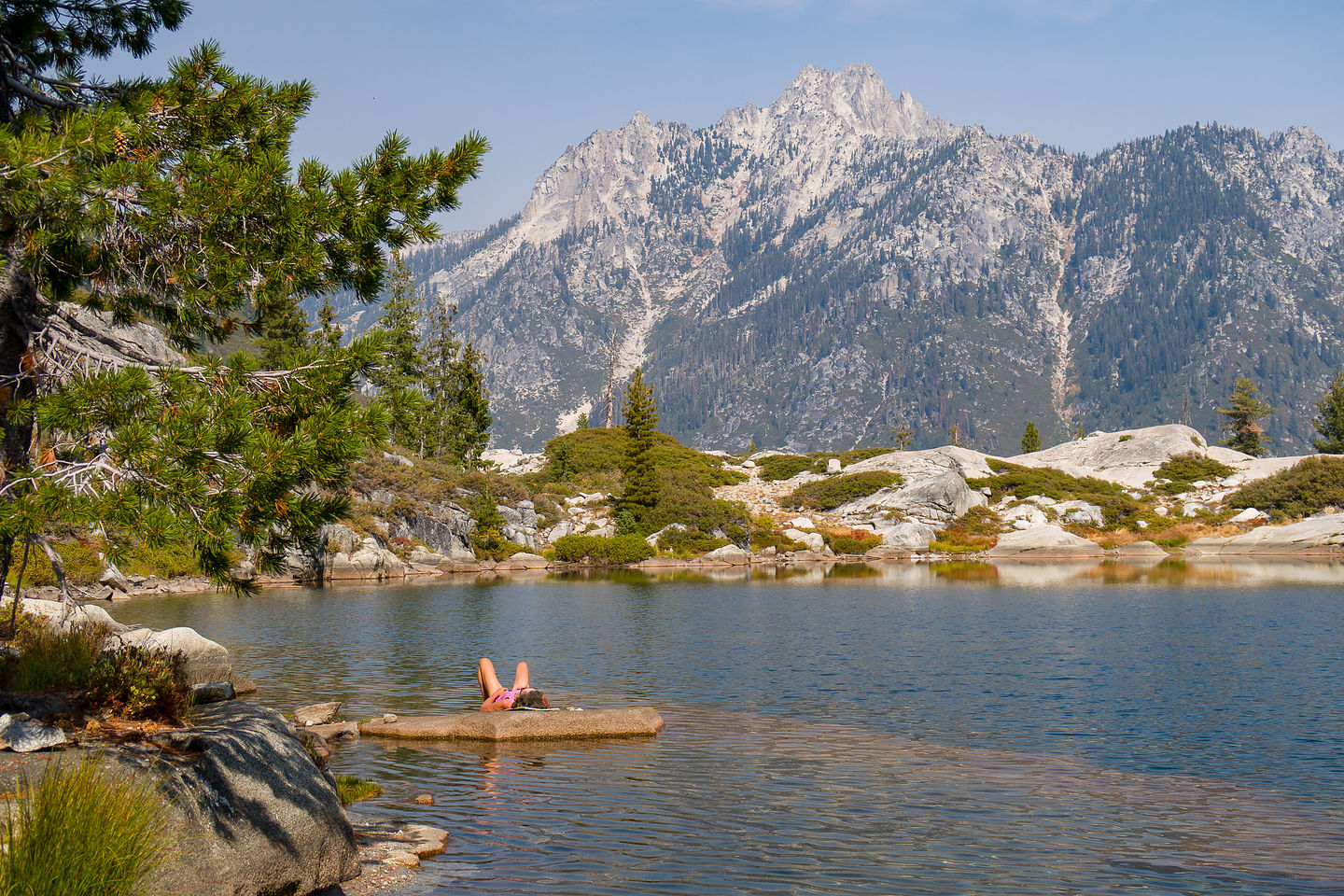 A well-need rest on Boulder Creek Lake