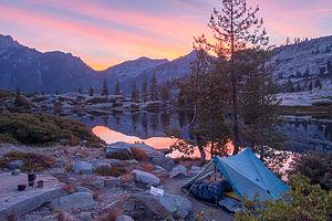 Our campsite at Boulder Creek Lakes