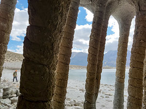 From inside the Columns
