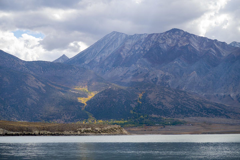 Colorful aspens across Crowley Lake