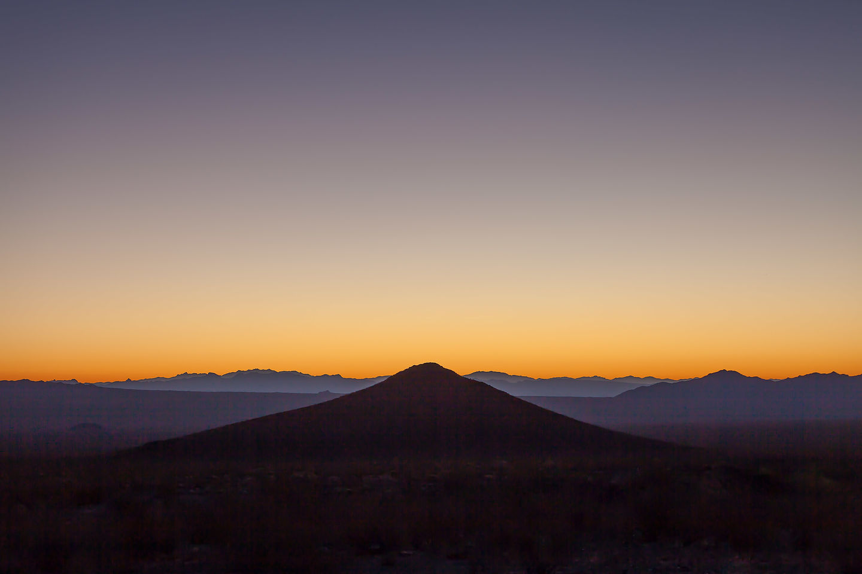 Sunrise over Jedediah Smith Butte