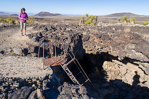 Approaching the lava tube