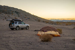 Our final campsite along the Mojave Road