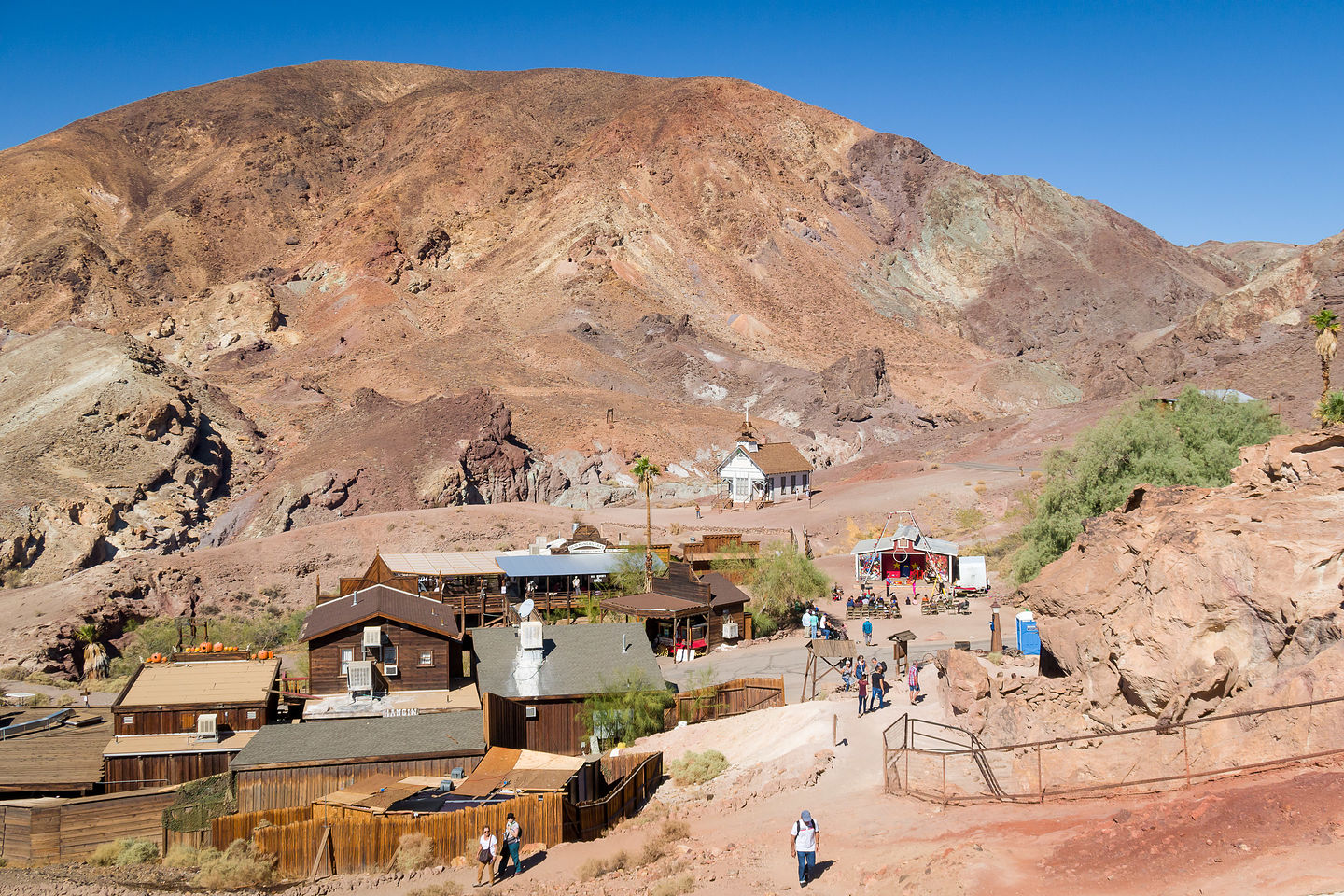 Looking down on Calico Ghost Town