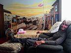 Herb relaxing in Room #9
