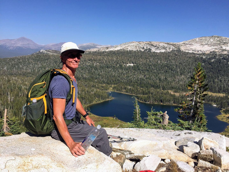 Herb enjoying the view of Elizabeth Lake