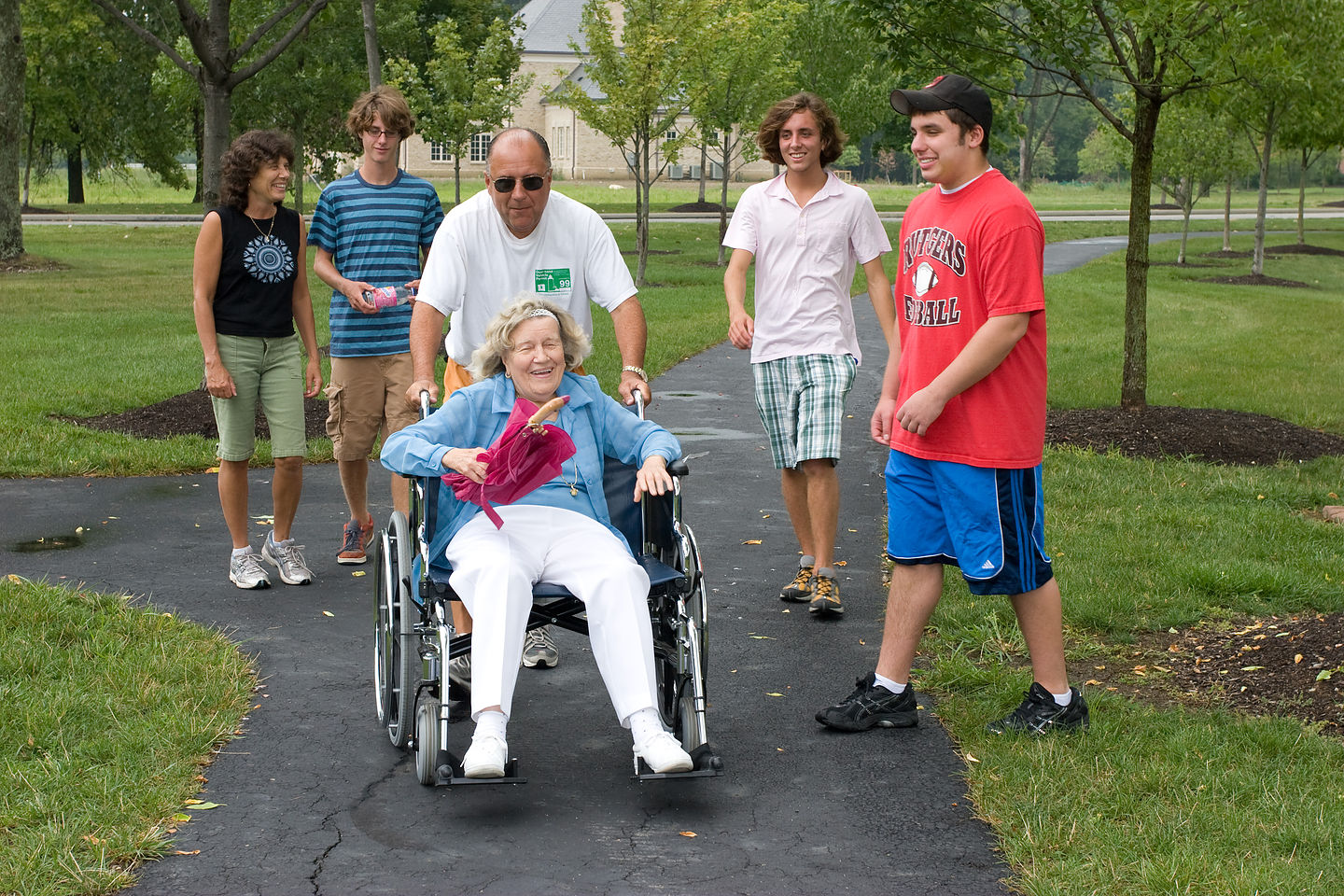 Taking Hedy for a stroll in the park