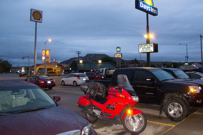 Honda ST1100 under Ominous Skies