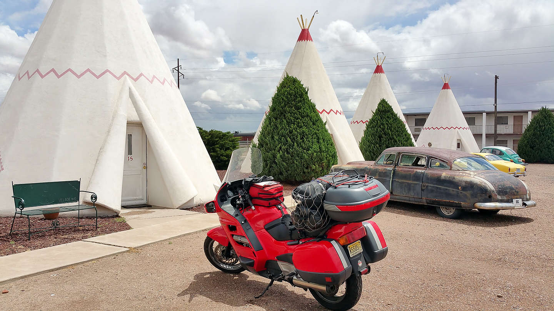 Wigwam Motel Teepees with Bike